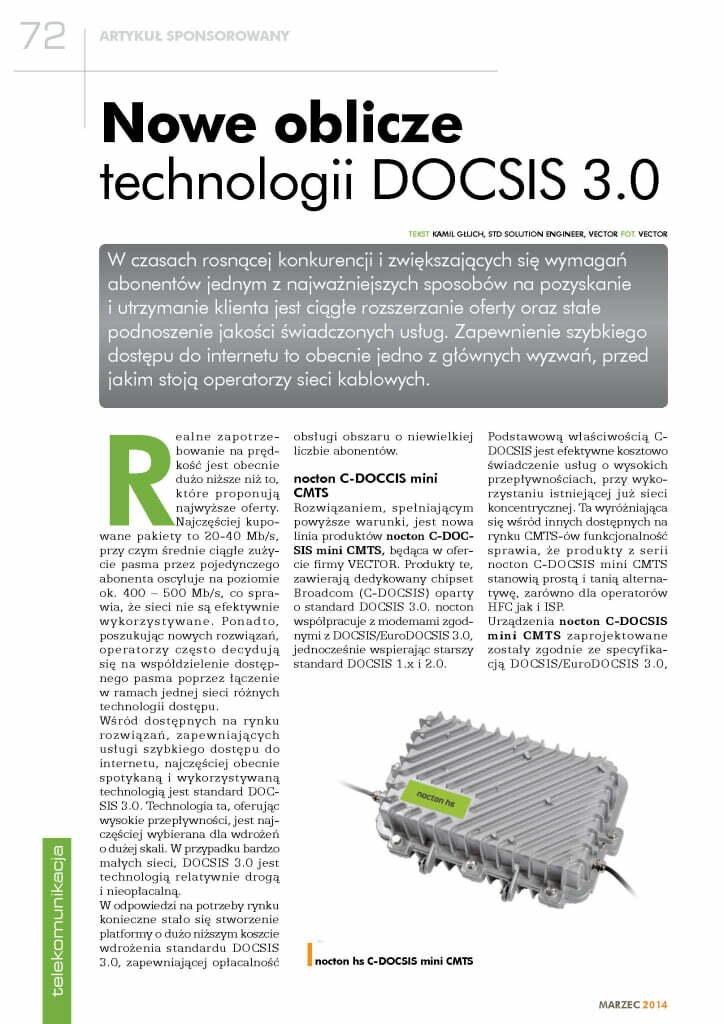 Nowe oblicze technologii DOCSIS 3.0 – Telekabel 03.2014
